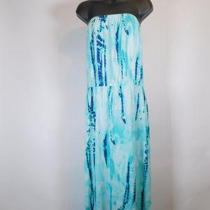Faded Glory Strapless Maxi Dress XXL CL2432 1119